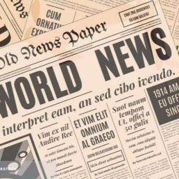 The old newspaper